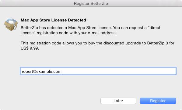 MacItBetter BetterZip 2 license