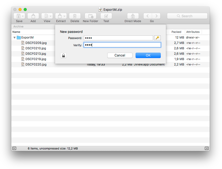 mac os x zip file command line